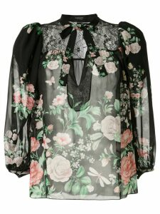Giambattista Valli silk floral print blouse - Multicolour