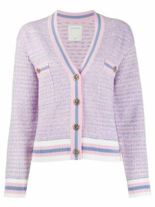 Sandro Paris cropped tweed effect cardigan - PINK