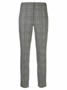 Adam Lippes high-rise checked skinny trousers - Black
