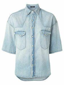 R13 denim 3/4 sleeve shirt - Blue