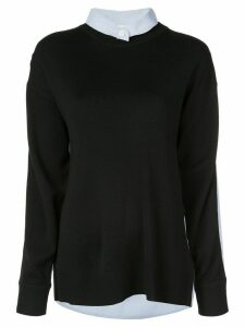 Tibi shirt back jumper - Black