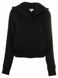 Kenzo logo print zip-front hoodie - Black