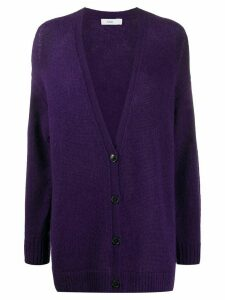 Closed v-neck relaxed cardigan - PURPLE