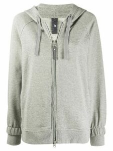 adidas X Stella McCartney zip front hoodie - Grey