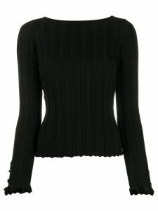 Philosophy Di Lorenzo Serafini striped cotton jumper - Black