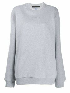 1017 ALYX 9SM graphic-print crew neck sweatshirt - Grey