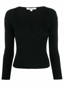 Jonathan Simkhai ribbed v-neck top - Black