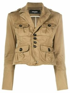 Dsquared2 cropped utility jacket - Brown