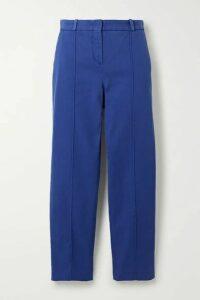 Loro Piana - Stretch-cotton Twill Slim-leg Pants - Blue