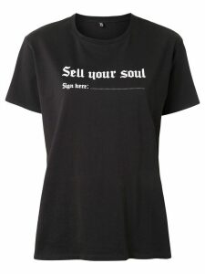 R13 sell your soul print T-shirt - Black