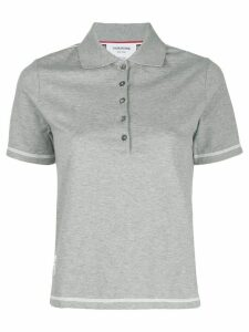 Thom Browne stitched polo shirt - Grey