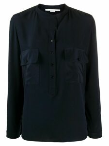 Stella McCartney collarless pocket detail blouse - Blue