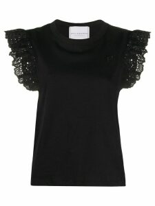 Philosophy Di Lorenzo Serafini laser-cut sleeve T-shirt - Black