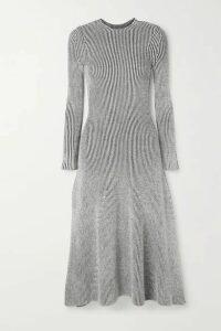 Mara Hoffman - + Net Sustain Jasmine Ribbed Stretch-modal Midi Dress - Gray