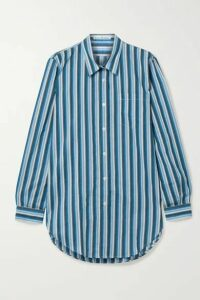 Acne Studios - Striped Cotton-blend Voile Shirt - Blue