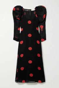 Mara Hoffman - + Net Sustain Elisabetta Polka-dot Tencel Lyocell Midi Dress - Black