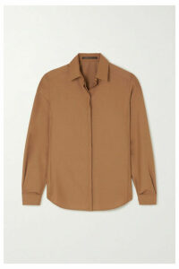 Agnona - Wool-crepe Shirt - Brown