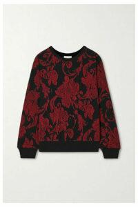 Dries Van Noten - Habieso Floral-print Cotton-jersey Sweatshirt - Red