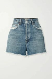 AGOLDE - Dee Distressed Denim Shorts - Blue