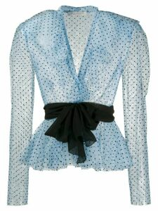 Philosophy Di Lorenzo Serafini polka dot print ruffled blouse - Blue