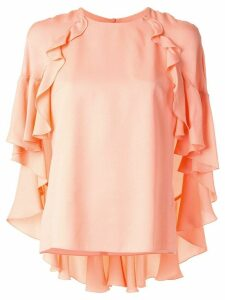 Giambattista Valli ruffled sleeve blouse - PINK