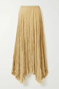 Joseph - Nanco Crinkled Silk-satin Maxi Skirt - Sand