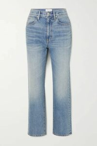 SLVRLAKE - London Cropped High-rise Straight-leg Jeans - Light denim