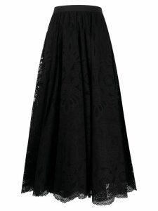 RedValentino high-waisted lace skirt - Black