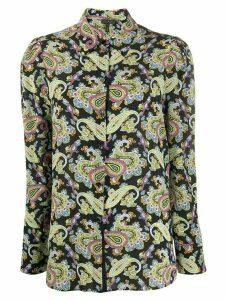 Escada paisley-print silk blouse - Black