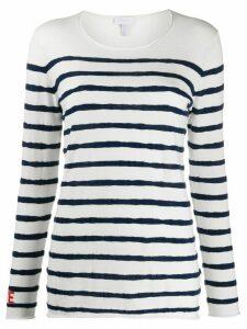 Escada Sport striped knit jumper - White