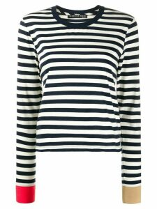 Veronica Beard striped long-sleeved top - Blue