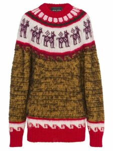 Miu Miu fair isle knitted alpaca jumper - Brown