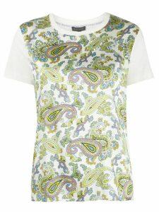 Escada paisley-print jersey T-shirt - White