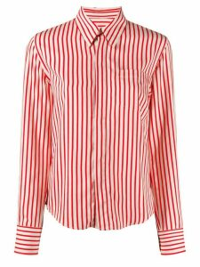Ami Paris striped button-front shirt - White