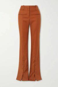 Altuzarra - Ned Cotton-blend Twill Flared Pants - Camel