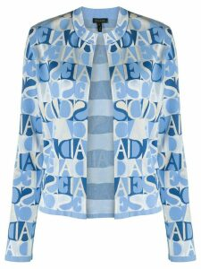 Escada knitted logo cardigan - Blue