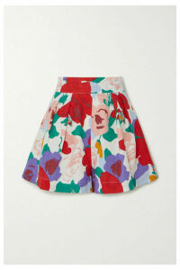 Faithfull The Brand - Ondine Floral-print Linen Shorts - Red