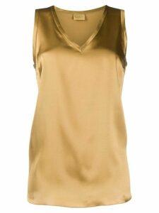 Brunello Cucinelli sleeveless V-neck tank top - Brown