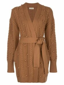 Nicholas cozy grandpa cardigan - Brown