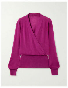 Agnona - Wrap-effect Cashmere Sweater - Magenta