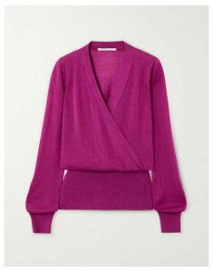 Agnona - Wrap-effect Cashmere Sweater - Magenta