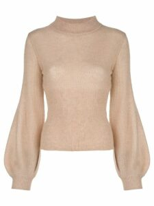 Nicholas mock neck jumper - NEUTRALS
