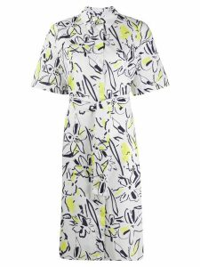 PS Paul Smith floral short-sleeve shirt dress - White