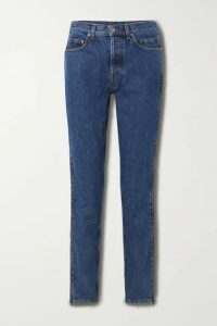 Vetements - Zip-embellished Mid-rise Straight-leg Jeans - Blue