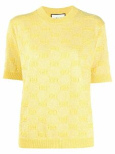 Gucci metallic knitted logo top - Yellow