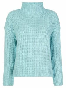 Vince high-neck ribbed sweater - Blue