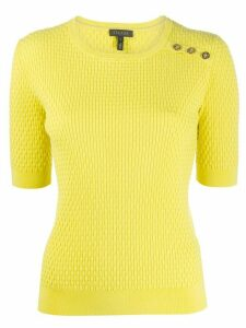 Escada knitted short sleeve top - Yellow