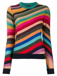 PS Paul Smith striped slim-fit jumper - Red