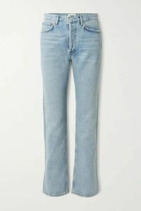 AGOLDE - + Net Sustain Lana Distressed Organic Low-rise Straight-leg Jeans - Blue