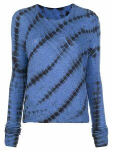 The Elder Statesman abstract print jumper - Blue